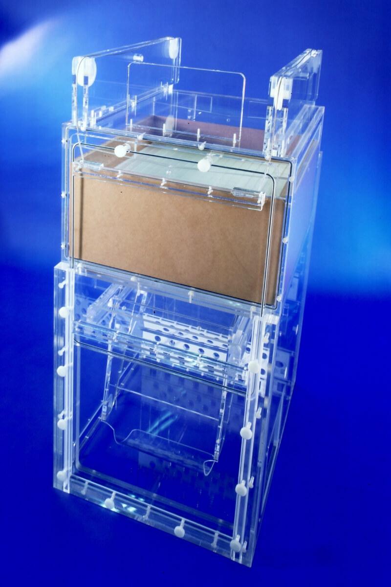 Kabinett Acrylglas Behälter 800 x 1200 LETO Kunststoff Technik