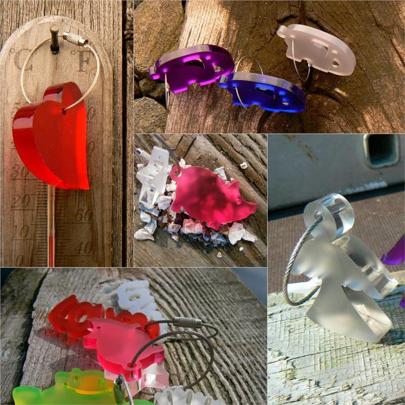 Individuelle Schlüsselanhänger Acrylglas